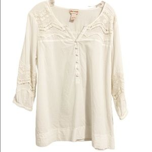 TOFFEE APPLE White Boho Lace Peasant Blouse
